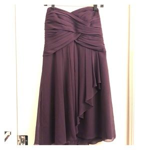 Short Strapless Chiffon dress